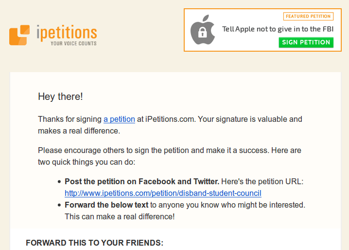I did NOT sign that online petition! | Nerdy Weekly